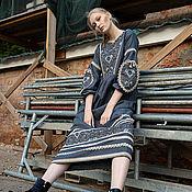 Платья ручной работы. Ярмарка Мастеров - ручная работа Серое платье из льна. Handmade.