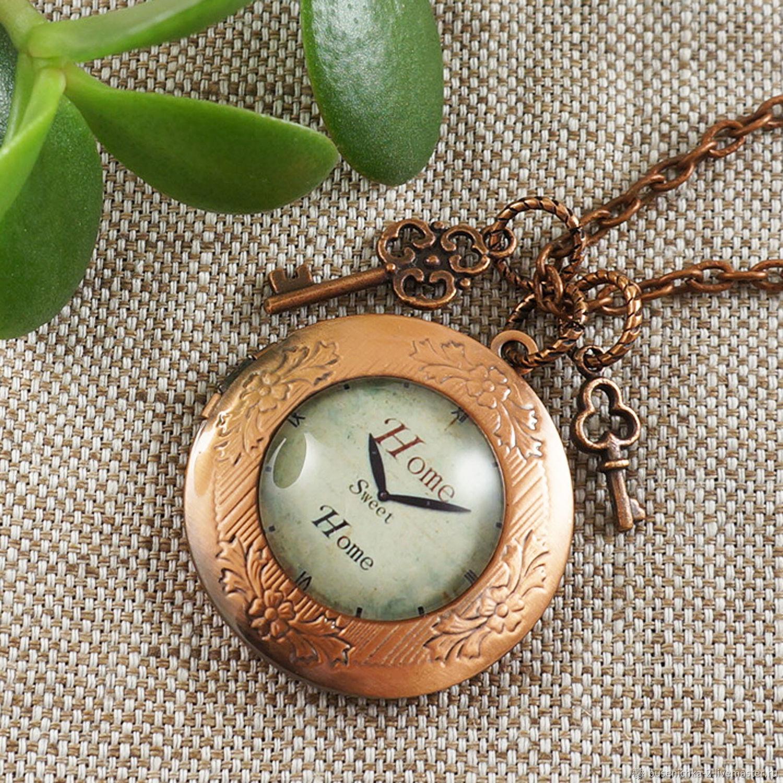Медальон Часы Home Sweet Home с Ключиками круглый медь, Подвеска, Москва,  Фото №1