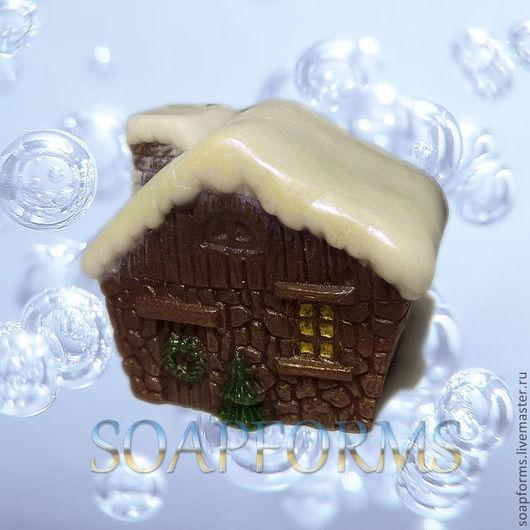 """Силиконовая форма для мыла """"Рождественский домик"""""""
