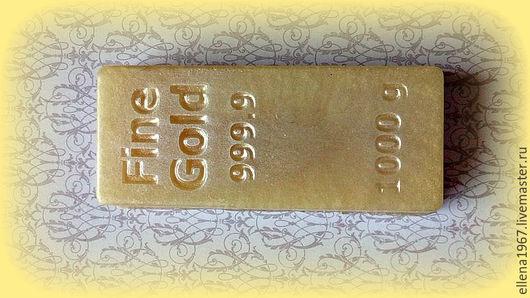 Мыло ручной работы. Ярмарка Мастеров - ручная работа. Купить Мыло Слиток золота. Handmade. Золотой, прииск, мыло золото