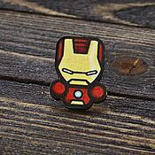 Украшения handmade. Livemaster - original item Wooden icon Iron Man. Handmade.