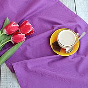 Для дома и интерьера ручной работы. Ярмарка Мастеров - ручная работа Столовые дорожки Фиолетовые огурцы. Handmade.