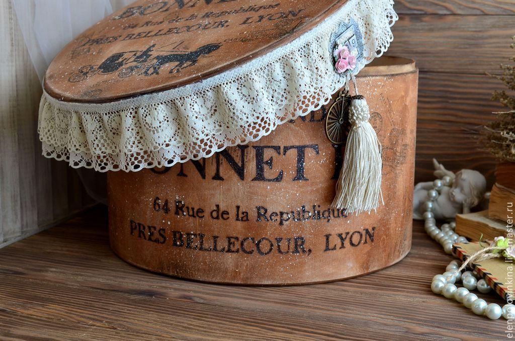 Шляпная коробка для цветов купить - b600