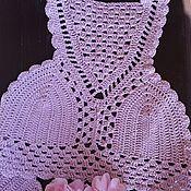 """Одежда ручной работы. Ярмарка Мастеров - ручная работа Топ  вязаный """"Розовая дымка"""". Handmade."""