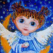 Картины и панно handmade. Livemaster - original item Lunar angel. Handmade.