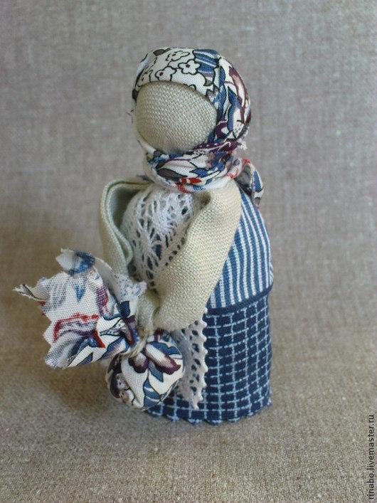 """Народные куклы ручной работы. Ярмарка Мастеров - ручная работа. Купить Кукла Подорожница """"Синь"""". Handmade. Тёмно-синий"""