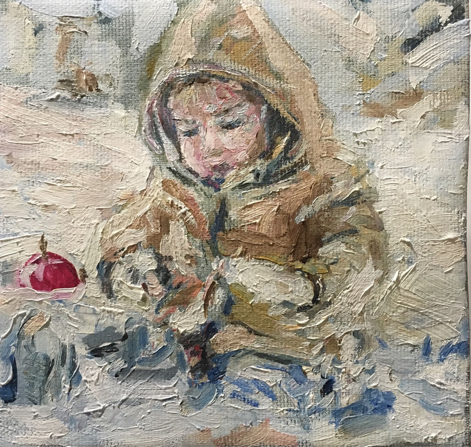 The painting 'Winter walk', Pictures, St. Petersburg,  Фото №1
