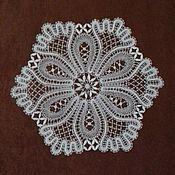 Для дома и интерьера handmade. Livemaster - original item Napkin bobbin lace. Handmade.