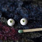 Материалы для творчества ручной работы. Ярмарка Мастеров - ручная работа Глаза 6-7 мм без росписи. Handmade.