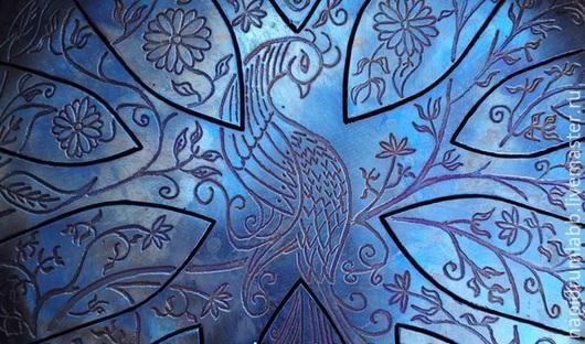 """Ударные инструменты ручной работы. Ярмарка Мастеров - ручная работа. Купить Большой глюкофон - """"Жар птица"""". Handmade. Тёмно-синий"""