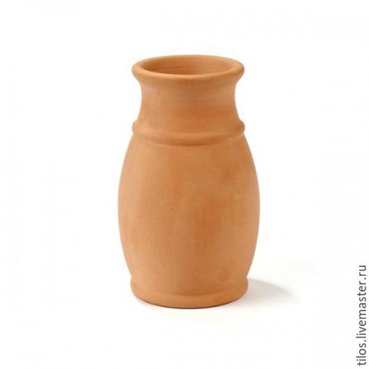Вазы ручной работы. Ярмарка Мастеров - ручная работа. Купить Керамическая заготовка Амфора с каймой. Handmade. Оранжевый, амфора, Керамика