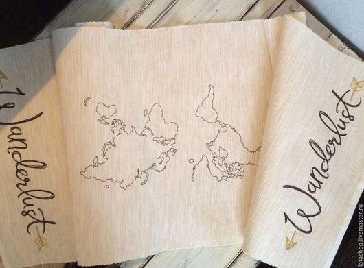 Текстиль, ковры ручной работы. Ярмарка Мастеров - ручная работа. Купить Дорожка Wonderland. Handmade. Бежевый, дорожка на стол, приключения