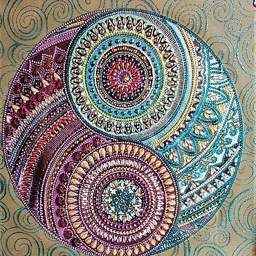 Картины и панно ручной работы. Ярмарка Мастеров - ручная работа Картины: Мандала.. Handmade.