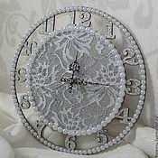 """Для дома и интерьера ручной работы. Ярмарка Мастеров - ручная работа часы настенные """"Морозные узоры"""". Handmade."""