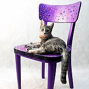 Стулья ручной работы. Ярмарка Мастеров - ручная работа Cтул ретро фиолетовый. Handmade.