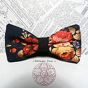 Аксессуары handmade. Livemaster - original item Bow tie Khokhloma/ Russian/ national/ pattern Hohloma. Handmade.