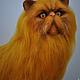 Игрушки животные, ручной работы. Ярмарка Мастеров - ручная работа. Купить Персидский рыжий кот. Handmade. Рыжий, подарок