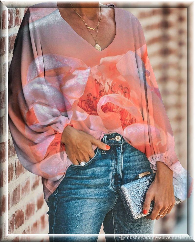 Блузка: перламутровый мак (или заказ по эскизу), Блузки, Нижневартовск,  Фото №1