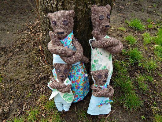 Мишки Тедди ручной работы. Ярмарка Мастеров - ручная работа. Купить Семейство твидовых медведей. Handmade. Твид, мишка, семья