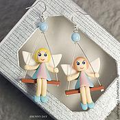 Украшения handmade. Livemaster - original item Earrings with angels. Handmade.