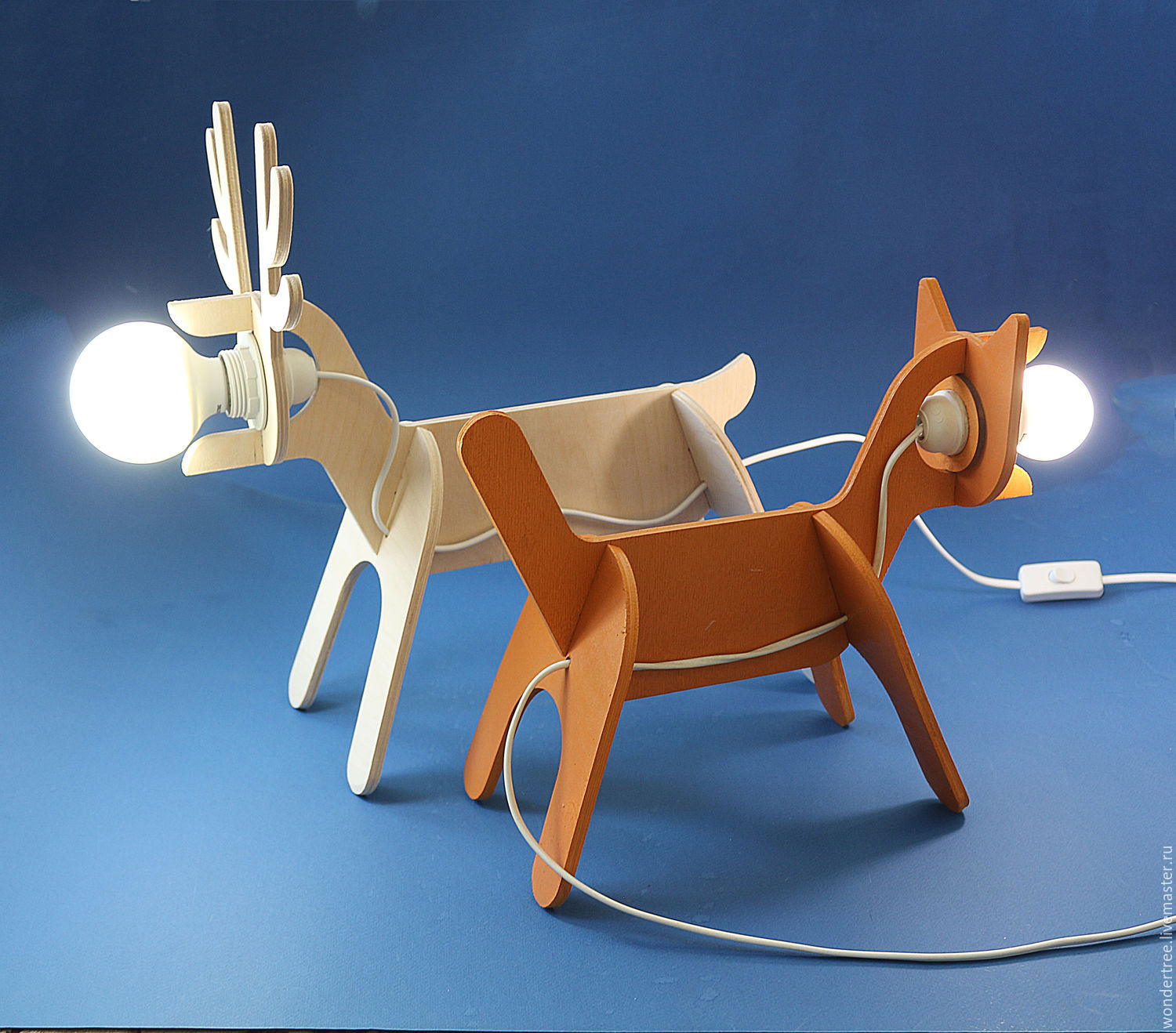 Lamps in the form of animals (cat, deer), Ceiling and pendant lights, Chelyabinsk,  Фото №1
