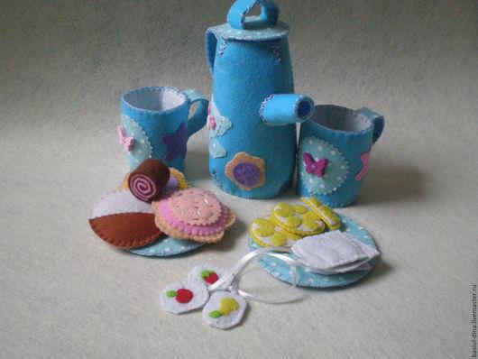Кукольный дом ручной работы. Ярмарка Мастеров - ручная работа. Купить Приятного чаепития. Handmade. Голубой, игрушки для девочек