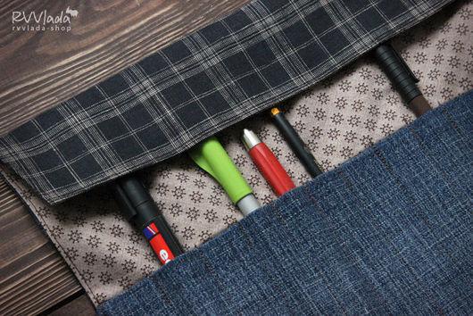 """Пеналы ручной работы. Ярмарка Мастеров - ручная работа. Купить Пенал """"Карлсон"""". Handmade. Пенал для карандашей, джинса"""