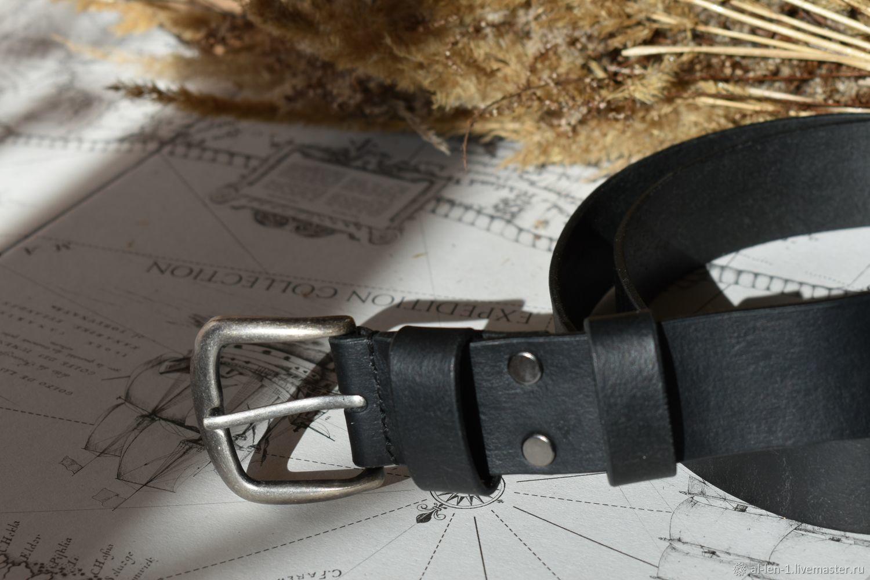 Кожаный мужской ремень ручной работы, Ремни, Тула,  Фото №1
