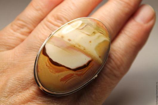 Колье, бусы ручной работы. Ярмарка Мастеров - ручная работа. Купить Мега кольцо с яшмой.. Handmade. Комбинированный, яшма Пикассо