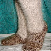Аксессуары handmade. Livemaster - original item Socks – socks winter thick knitted art. No. №25m of dog hair. Handmade.
