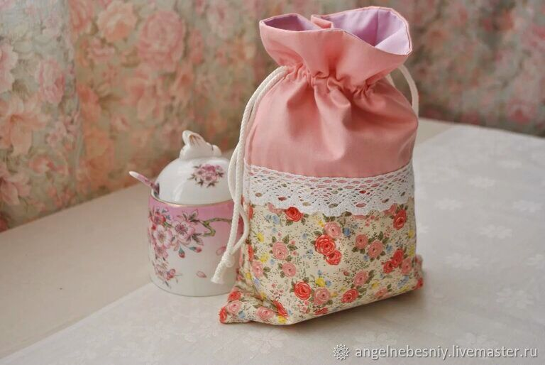 Bags for gifts: Pink roses, Gift pouch, St. Petersburg,  Фото №1