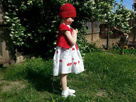 Одежда для девочек, ручной работы. Ярмарка Мастеров - ручная работа. Купить Жакет-болеро + панамка. Handmade. Жакет, для девочки