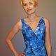 Dress 'Blue chrysanthemum'. Dresses. natakornakova (natakornakova). My Livemaster. Фото №4