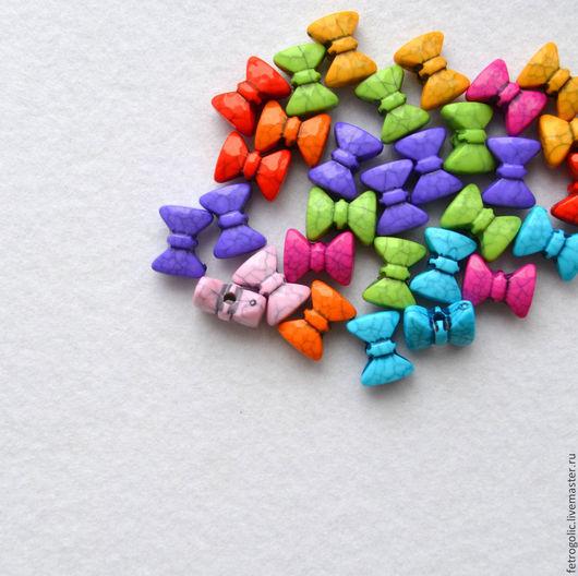 """Шитье ручной работы. Ярмарка Мастеров - ручная работа. Купить Бусины """"Бантик"""" (1шт). Handmade. Разноцветный, пуговицы, детские пуговицы"""