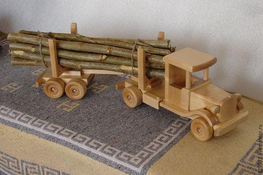 Техника ручной работы. Ярмарка Мастеров - ручная работа. Купить лесовоз с полуприцепом. Handmade. Лимонный, подарок мальчику, автомобиль, техника