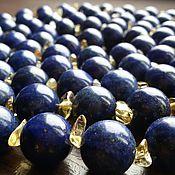 Necklace handmade. Livemaster - original item 150 cm Long necklace of lapis lazuli with citrine.. Handmade.