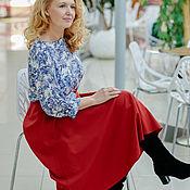 Одежда handmade. Livemaster - original item Skirt made of Italian viscose, the Color of watermelon. Handmade.