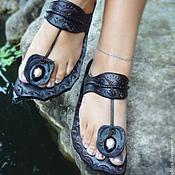 """Обувь ручной работы. Ярмарка Мастеров - ручная работа Кожаные сандалии """"Funky Thai"""". Handmade."""
