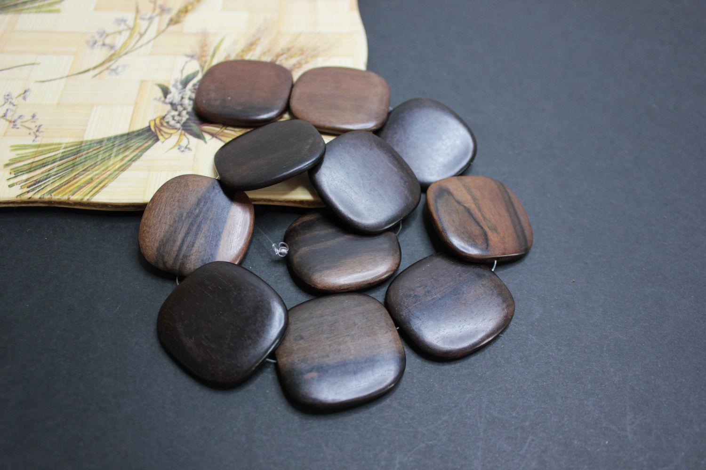 Black Ebony Camagong beads (Diospyros Blancoi) 35mm, Beads1, Bryansk,  Фото №1
