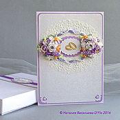 Свадебный салон ручной работы. Ярмарка Мастеров - ручная работа Большая свадебная открытка с коробочкой и конвертом. Handmade.
