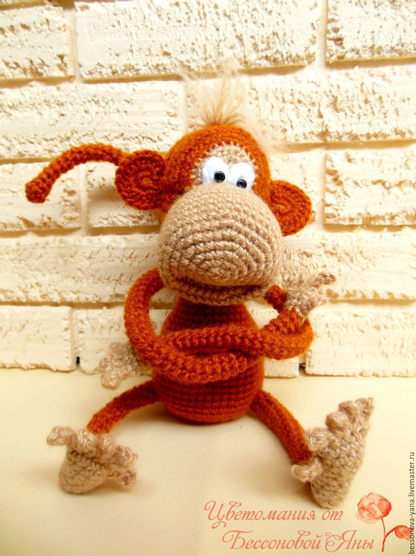 Вязаная крючком обезьяна фото