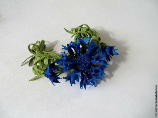 """Браслеты ручной работы. Ярмарка Мастеров - ручная работа. Купить Браслет """"Васильковые Глаза"""". Handmade. Синий, подарок женщине, цветок"""