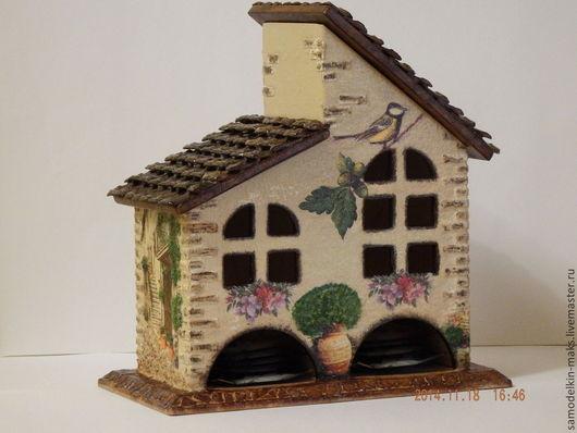 Кухня ручной работы. Ярмарка Мастеров - ручная работа. Купить Домик для хранения чайных пакетиков. Handmade. Подарок, деревянная заготовка