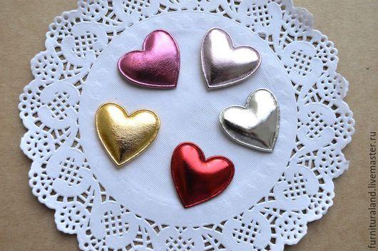 """Аппликации, вставки, отделка ручной работы. Ярмарка Мастеров - ручная работа. Купить Аппликации """"Блестящие сердечки"""", 5 цветов.. Handmade."""