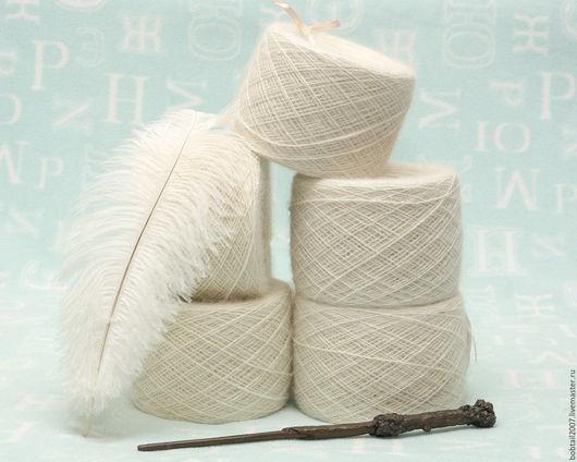 Вязание ручной работы. Ярмарка Мастеров - ручная работа. Купить Нитки из собачьей шерсти Марема. Handmade. Белый, Нитки
