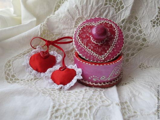 """Подарки для влюбленных ручной работы. Ярмарка Мастеров - ручная работа. Купить Шкатулочка """"Признание в любви"""". Handmade. Ярко-красный, шкатулка"""