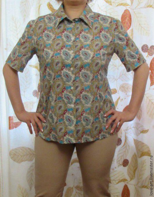 Блузки ручной работы. Ярмарка Мастеров - ручная работа. Купить Блуза-рубашка 16. Handmade. Комбинированный, пейсли, одежда для женщин