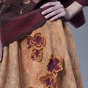 """Одежда ручной работы. Ярмарка Мастеров - ручная работа Валяная юбка """"Солнечная"""" ,бочонок. Handmade."""