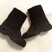 Обувь ручной работы. Ярмарка Мастеров - ручная работа Валенки короткие для мужчины .. Handmade.