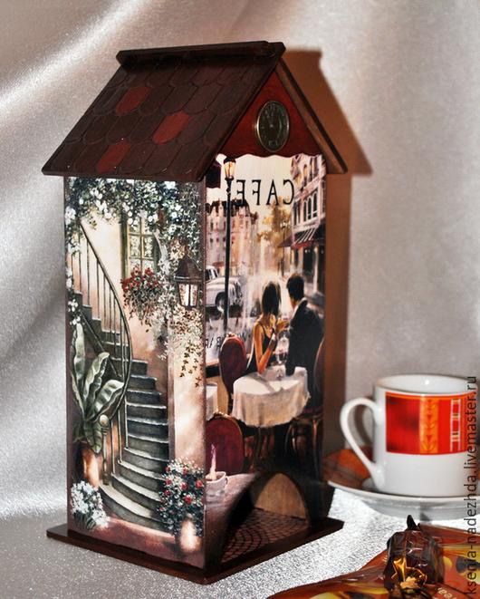 """Кухня ручной работы. Ярмарка Мастеров - ручная работа. Купить Чайный домик """"Свидание в кафе"""". Handmade. Чайный домик, разноцветный"""